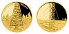 Zlatá čtvrtuncová medaile Rozhledna Boubín