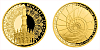 Zlatá čtvrtuncová medaile Rozhledna Lednický minaret