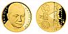 Zlatá čtvrtuncová medaile Rudolf Hrušínský