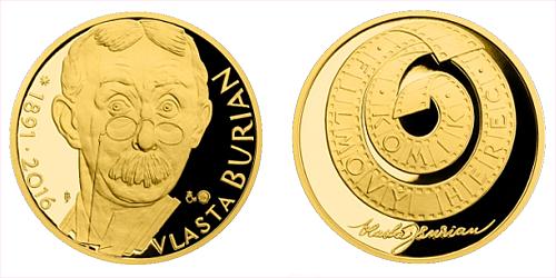 Zlatá půluncová medaile Vlasta Burian