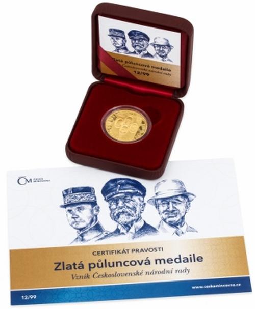 2016_Au_medaile_vznik_CS_narodni_rady_etue_2