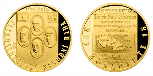 Zlatá půluncová medaile Vznik Československé národní rady