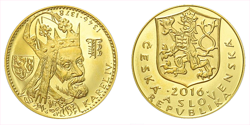 Zlatý Jednodukát Karel IV. 2016