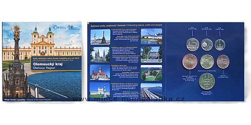 Sada oběžných mincí ČR 2016 Kraje ČR - Olomoucký