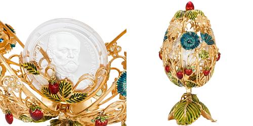 2015 - Originální klenot na téma Léto se stříbrnou mincí 2 NZD Gustav Fabergé
