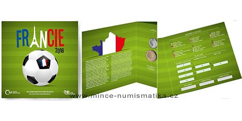 Sada oběžných mincí ČR 2016 Fotbal - Francie 2016