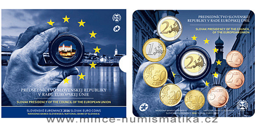 Sada oběžných mincí SR 2016 - Prvé predsedníctvo SR v Rade Európskej únie