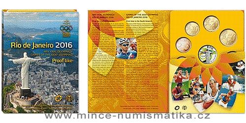 Sada oběžných mincí SR 2016 - Hry XXXI. olympiády Rio de Janeiro 2016 - PROOF like