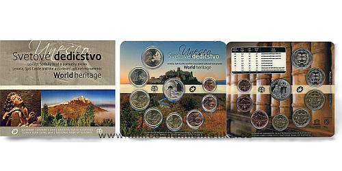 Sada oběžných mincí SR 2016 - Kultúrne pam. UNESCO na Slovensku Levoča, Spišský hrad a pam. okol
