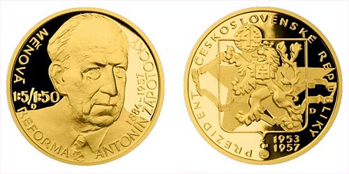 Zlatý dukát Českoslovenští prezidenti - Antonín Zápotocký