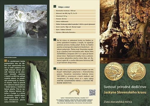 2017_100_Euro_Jaskyne_slovenskeho_krasu_Au_letak_1