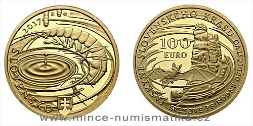 100 € - Svetové  prírodné dedičstvo – Jaskyne Slovenského krasu