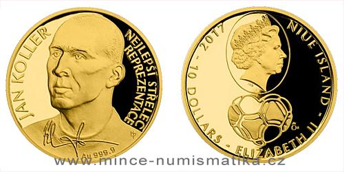 Zlatá čtvrtuncová mince Jan Koller