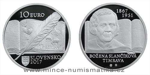 10 € - 150. výročie narodenia - Božena Slančíková-Timrava