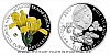 Stříbrná mince Ohrožená příroda - Kosatec skalní písečný
