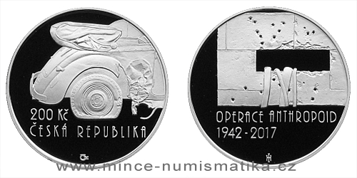 200 Kč - 75. výročí - Operace Anthropoid