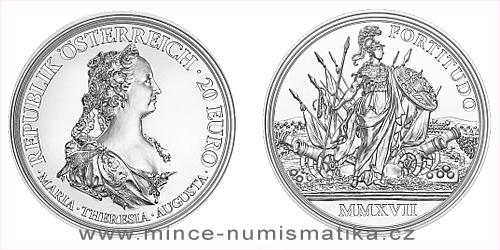 2017 - 20 € Rakousko - Marie Terezie: Statečnost a Odhodlanost