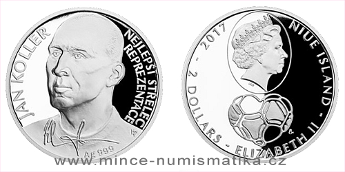 Stříbrná mince Jan Koller