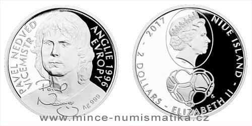 Stříbrná mince Pavel Nedvěd
