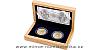 Sada dvou stříbrných mincí Relikviář svatého Maura