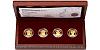 Sada čtyř zlatých mincí Šlechtický rod Pánů z Rožmitálu