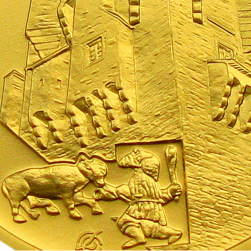 2017_5000_Kc_Hrad_Pernstejn_Au_mince_detail_revers