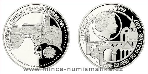 Platinová uncová mince UNESCO - Historické centrum Českého Krumlova