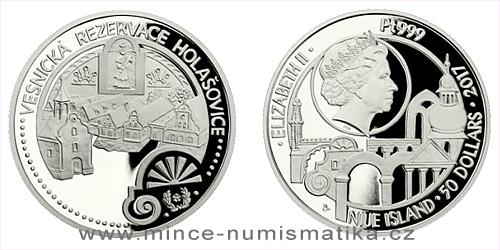 Platinová uncová mince UNESCO - Holašovice