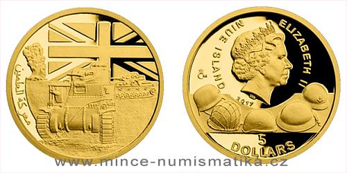 Zlatá mince Válečný rok 1942 - Bitva u El Alameinu