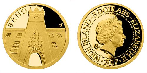 2017_5_NZD_pohlednice_Brno-Stara_radnice_Au_1_mince