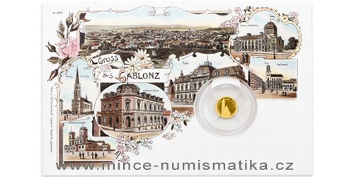 Zlatá mince Jablonec nad Nisou - Kostel Povýšení sv. Kříže