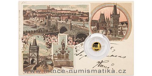 Zlatá mince Praha - Karlův most