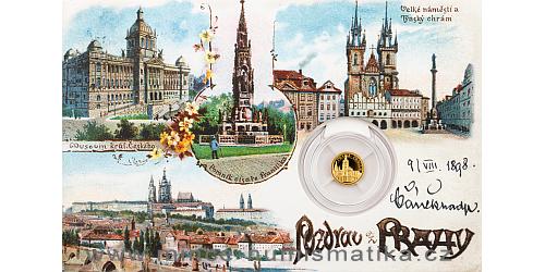 Zlatá mince Praha - Pražský hrad