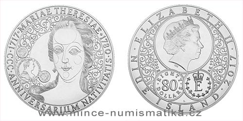 Stříbrná kilogramová mince 300. výročí narození Marie Terezie