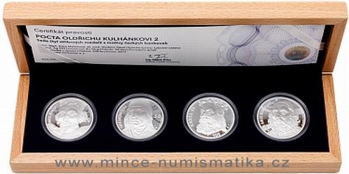 Sada čtyř stříbrných medailí Pocta Oldřichu Kulhánkovi 2