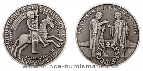 Stříbrná medaile České pečetě - Vladislav Jindřich