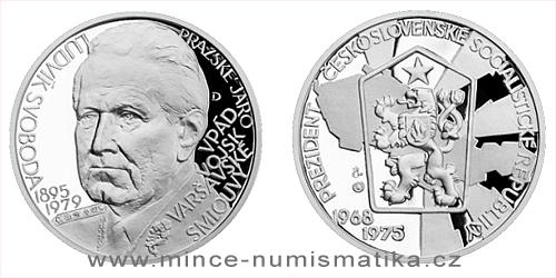Stříbrná medaile Českoslovenští prezidenti - Ludvík Svoboda