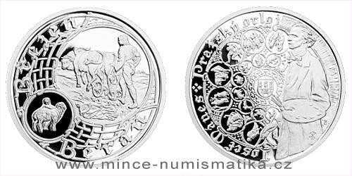 Stříbrná medaile Staroměstský orloj - Beran