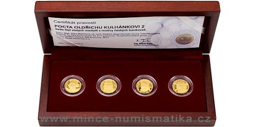 Sada čtyř zlatých medailí Pocta Oldřichu Kulhánkovi 2