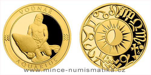 Zlatý dukát Znamení zvěrokruhu - Vodnář