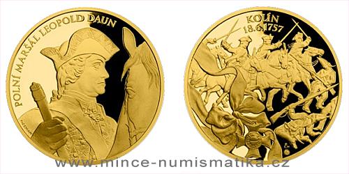 Zlatá uncová medaile Dějiny válečnictví - Bitva u Kolína