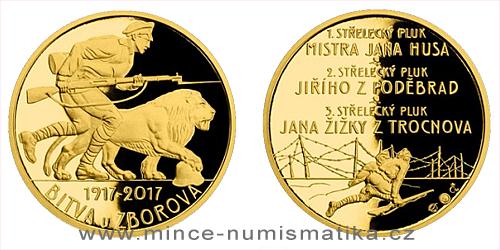 Zlatá půluncová medaile Bitva u Zborova