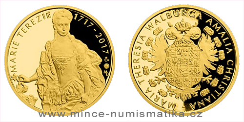 Zlatá půluncová medaile Marie Terezie