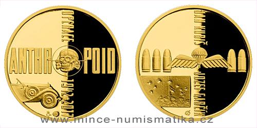 Zlatá půluncová medaile Operace Anthropoid