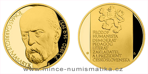 Zlatá uncová medaile Tomáš Garrigue Masaryk