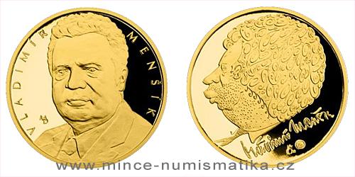 Zlatá čtvrtuncová medaile Hvězdy stříbrného plátna - Vladimír Menšík