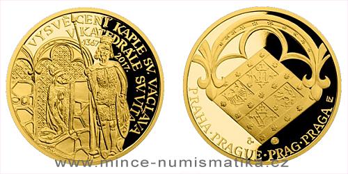 Zlatá půluncová medaile Vysvěcení kaple sv. Václava