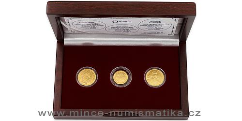 Sada zlatých replik a medaile Ferdinand III.
