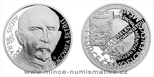 Stříbrná medaile Národní hrdinové - Alois Rašín