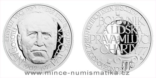 Stříbrná medaile Národní hrdinové - Jan Patočka
